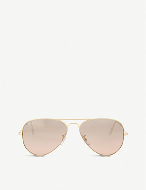 RAY-BAN Original aviator metal-frame sunglasses RB3025 58