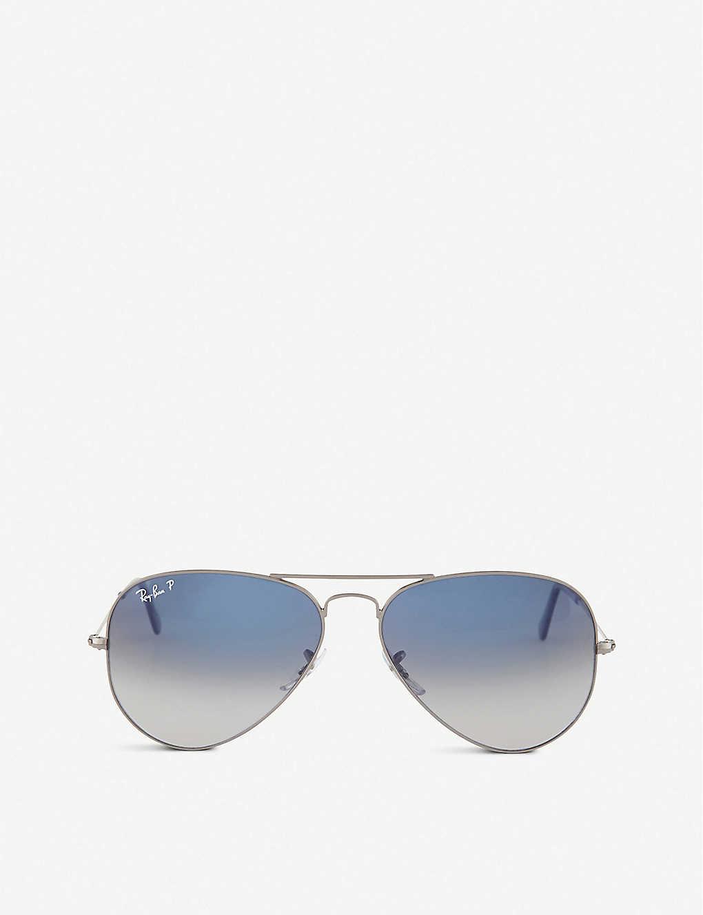 a04252e82d RAY-BAN Original aviator gunmetal-frame sunglasses with gradient blue  lenses RB3025 58