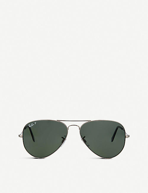 61734adfb8 RAY-BAN Original aviator gunmetal-frame sunglasses RB3025 58