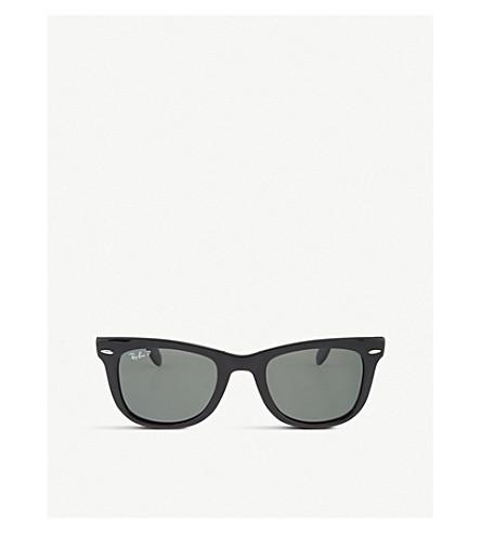 Ray Ban Sunglasses Black folding wayfarer sunglasses RB4105 50
