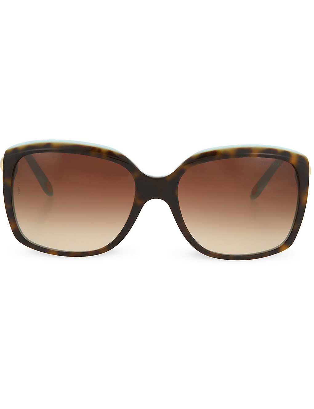 TIFFANY & CO: Tortoise shell square sunglasses