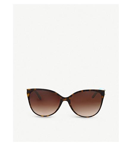 9fdf29826a1 TIFFANY   CO - Havana cat-eye sunglasses
