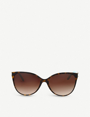 TIFFANY & CO Havana cat-eye sunglasses