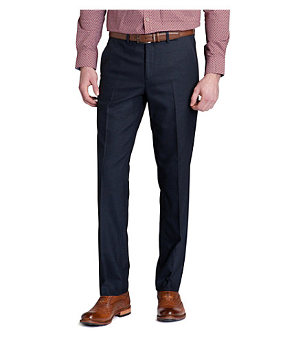 07eb63984868 TED BAKER Elratro textured trousers (Navy