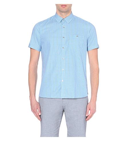 60e4606a63b1de TED BAKER Checked cotton shirt on PopScreen