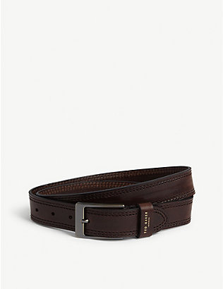 TED BAKER: Crikitt stitched leather belt