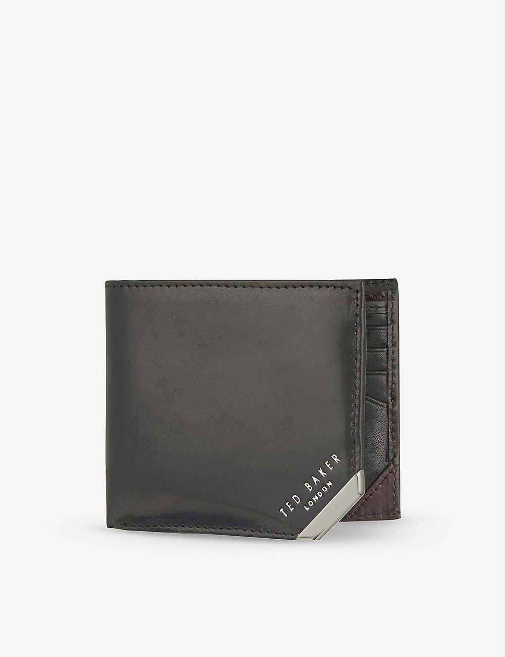 TED BAKER: Metal corner wallet