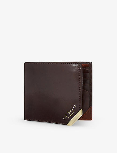 TED BAKER Metal corner wallet