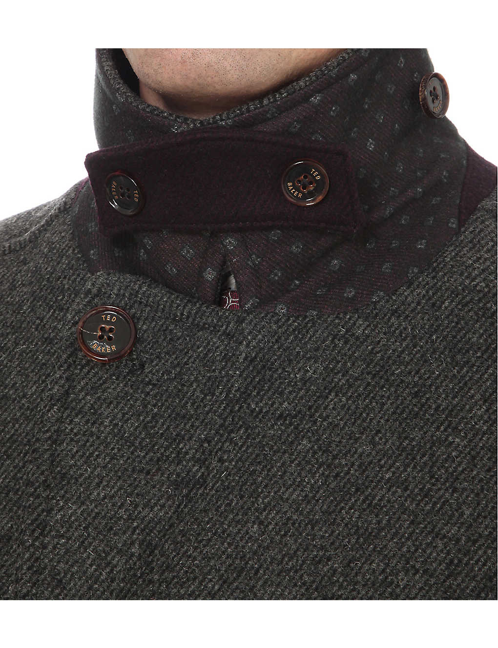 f56fef49c5e9 TED BAKER - Double-breasted wool peacoat