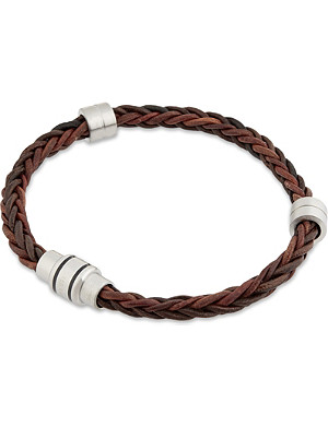 TED BAKER Block two-tone woven bracelet