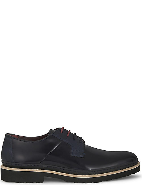 TED BAKER: Oktibr leather Derby shoes