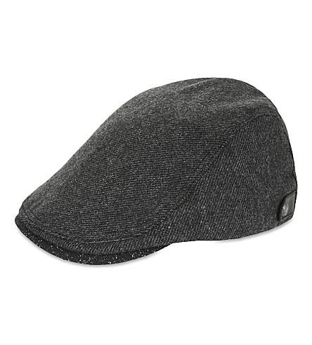 46b09f1bc8a5e6 TED BAKER Chipper twill flat cap (Charcoal