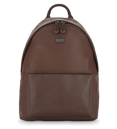 TED BAKER PANTHER LEATHER BACKPACK e726fde314056