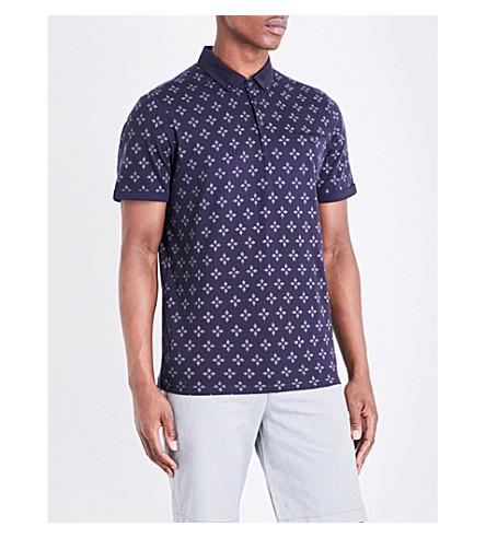 2f16b932 TED BAKER - Diamond-print slim-fit cotton polo shirt | Selfridges.com