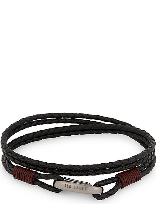 8a4e3f9b31c8 TED BAKER - Newbuzz leather wrap bracelet