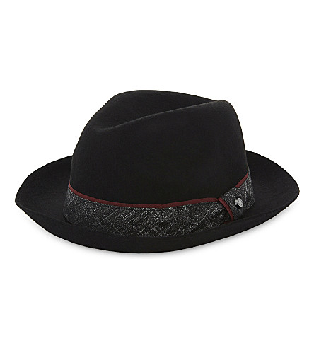 3941ea7ca50 ... TED BAKER Wool fedora hat (Black. PreviousNext