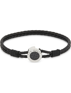 TED BAKER Carbon fibre leather bracelet