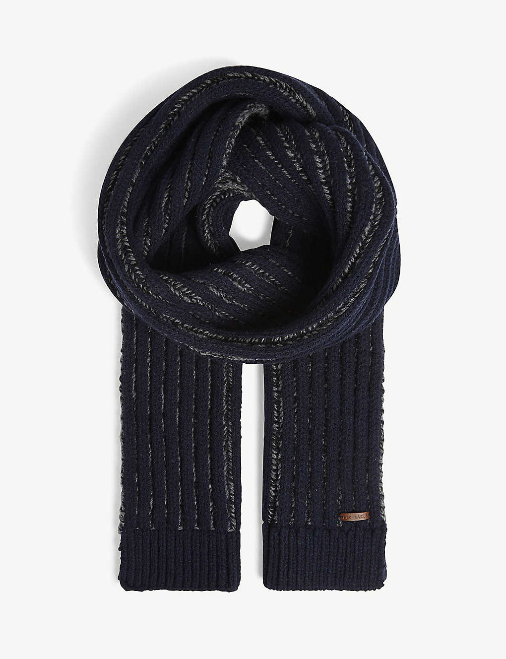 3ee3b5b2c TED BAKER - BEECH cotton herringbone scarf