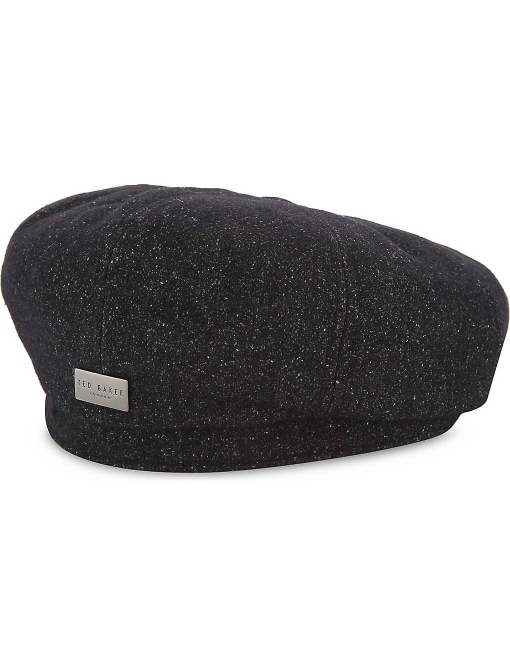 5db32a52f89d TED BAKER - Baker boy wool-blend cap