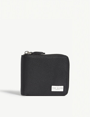 TED BAKER Grained leather coin wallet