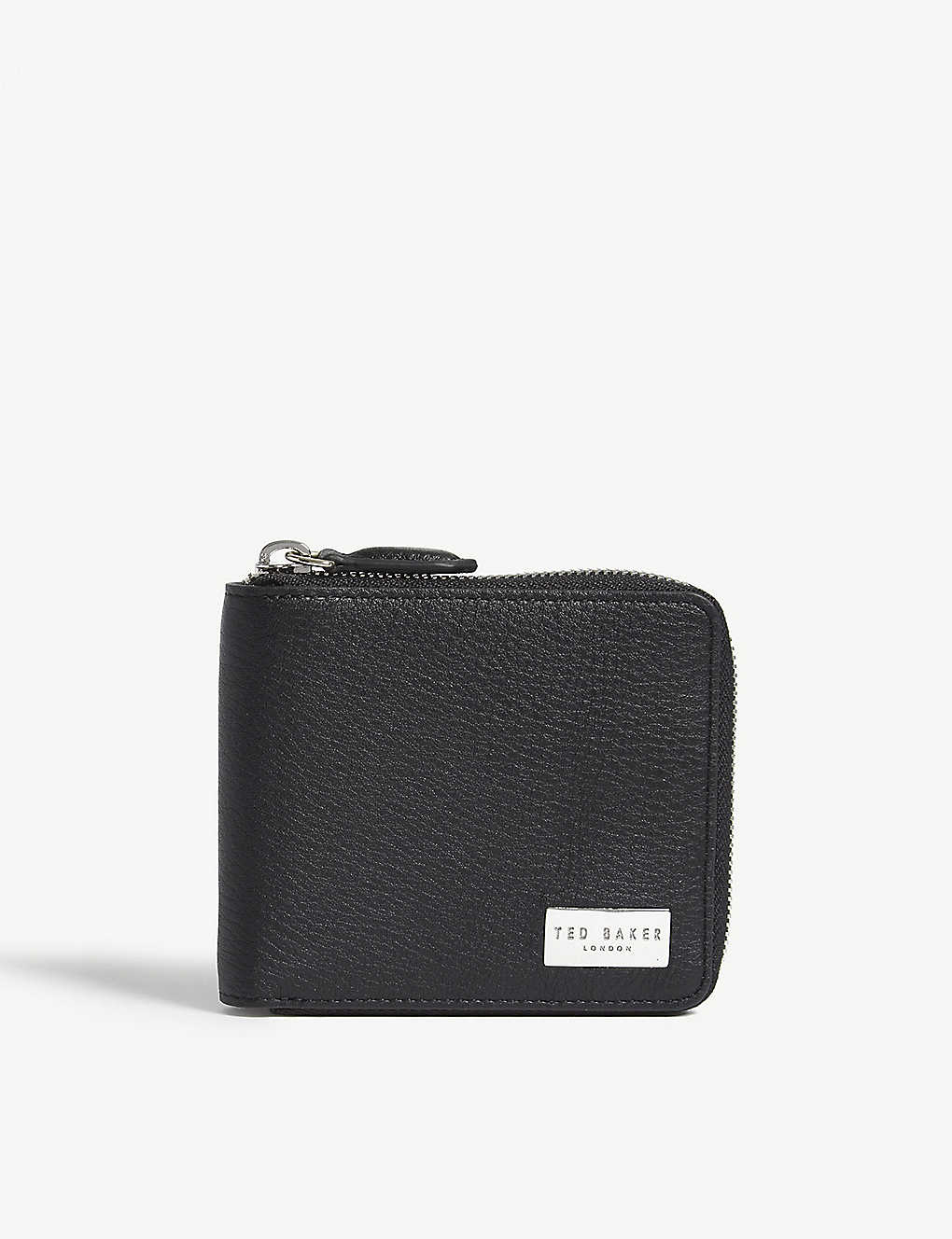 TED BAKER: Grained leather coin wallet