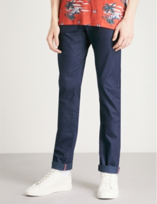 f93eae074 TED BAKER - Printo tailored-fit tapered jeans