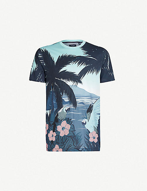 cbff11a2b TED BAKER - Printed T-Shirts - T-Shirts - Tops   t-shirts - Clothing ...