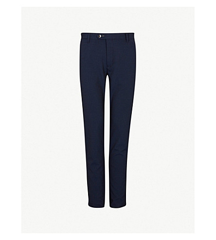 d87f24cef TED BAKER Dot-print crepe trousers (Navy