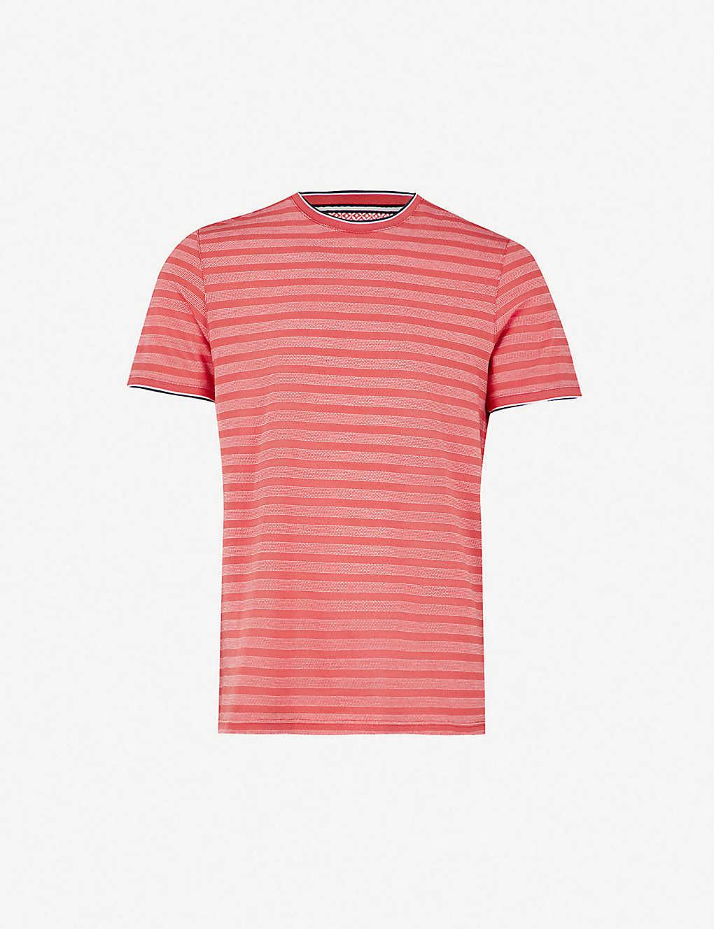 c1fd3929 TED BAKER - Bullway Birdseye striped cotton T-shirt | Selfridges.com