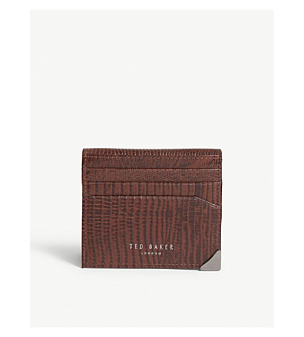 babf0ed74 Ted Baker Mens Coloured Leather Card Holder Ted Baker Men   s Accessories  XA7M-
