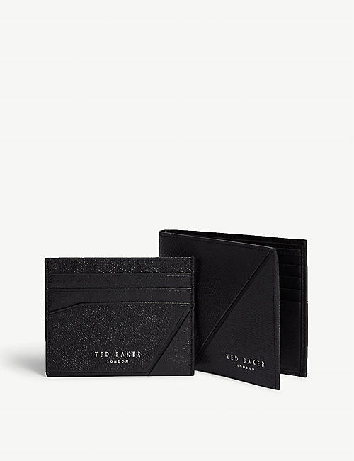 71e38cc758ea87 TED BAKER Leather wallet and card holder gift set