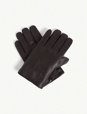 TED BAKER Rainboe stitched leather gloves