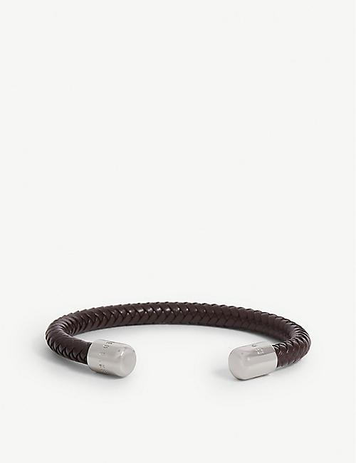 06f7b6cdf96f8 TED BAKER - Karr herringbone leather cuff bracelet