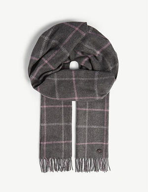 443c45a916912 TED BAKER Halwil window check scarf