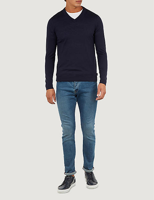 TED BAKER V-neck knitted jumper