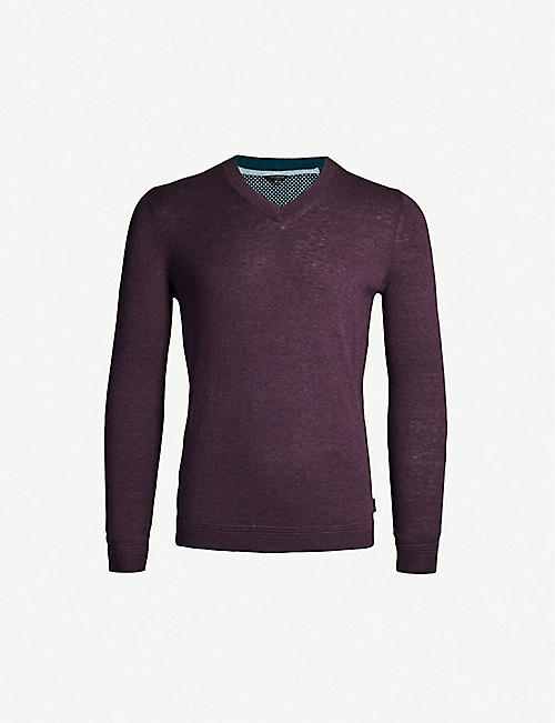 65b83fc0a33a TED BAKER V-neck knitted jumper