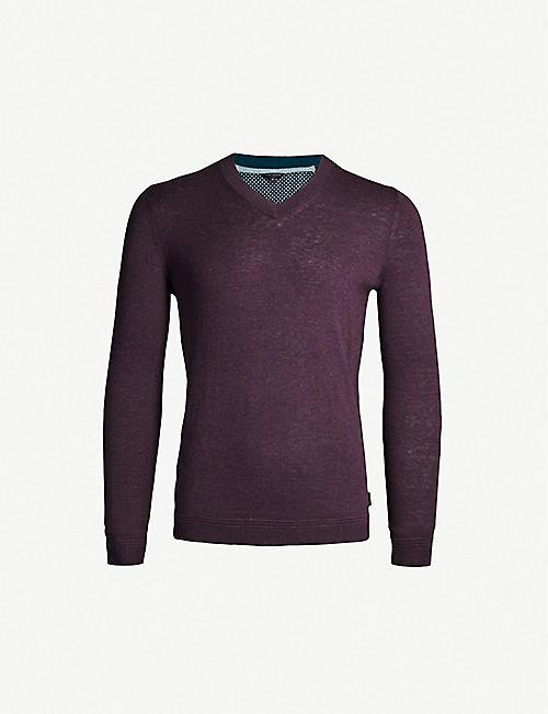 0057f0178 TED BAKER V-neck knitted jumper