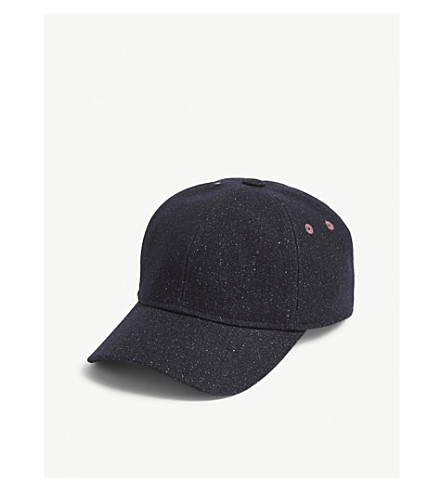 035e804d33404 TED BAKER - Berryz speckled wool-blend baseball cap