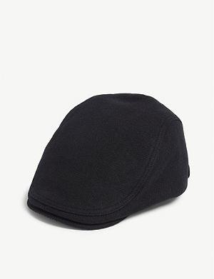 TED BAKER English twill wool-blend flat cap af8a1bae8733