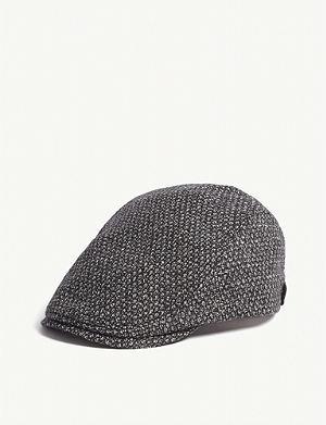 9be48f74614 TED BAKER - Cork wool-blend flat cap