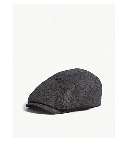 4f5c4fc9da1 TED BAKER Tspoon Herringbone baker boy cap (Charcoal. PreviousNext official  site ...
