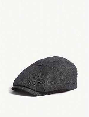 468b22dce99 TED BAKER Tspoon Herringbone baker boy cap