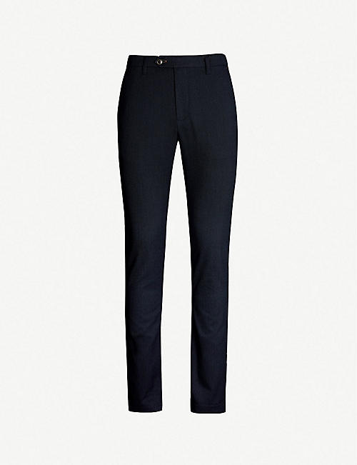 bb3e89435219 TED BAKER - Slim-fit tapered textured trousers