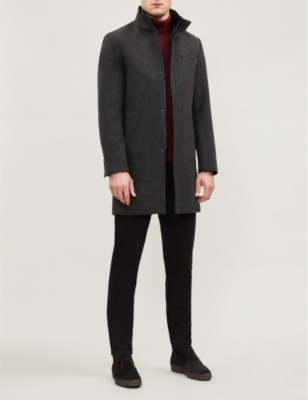 mens funnel neck wool marvin coat