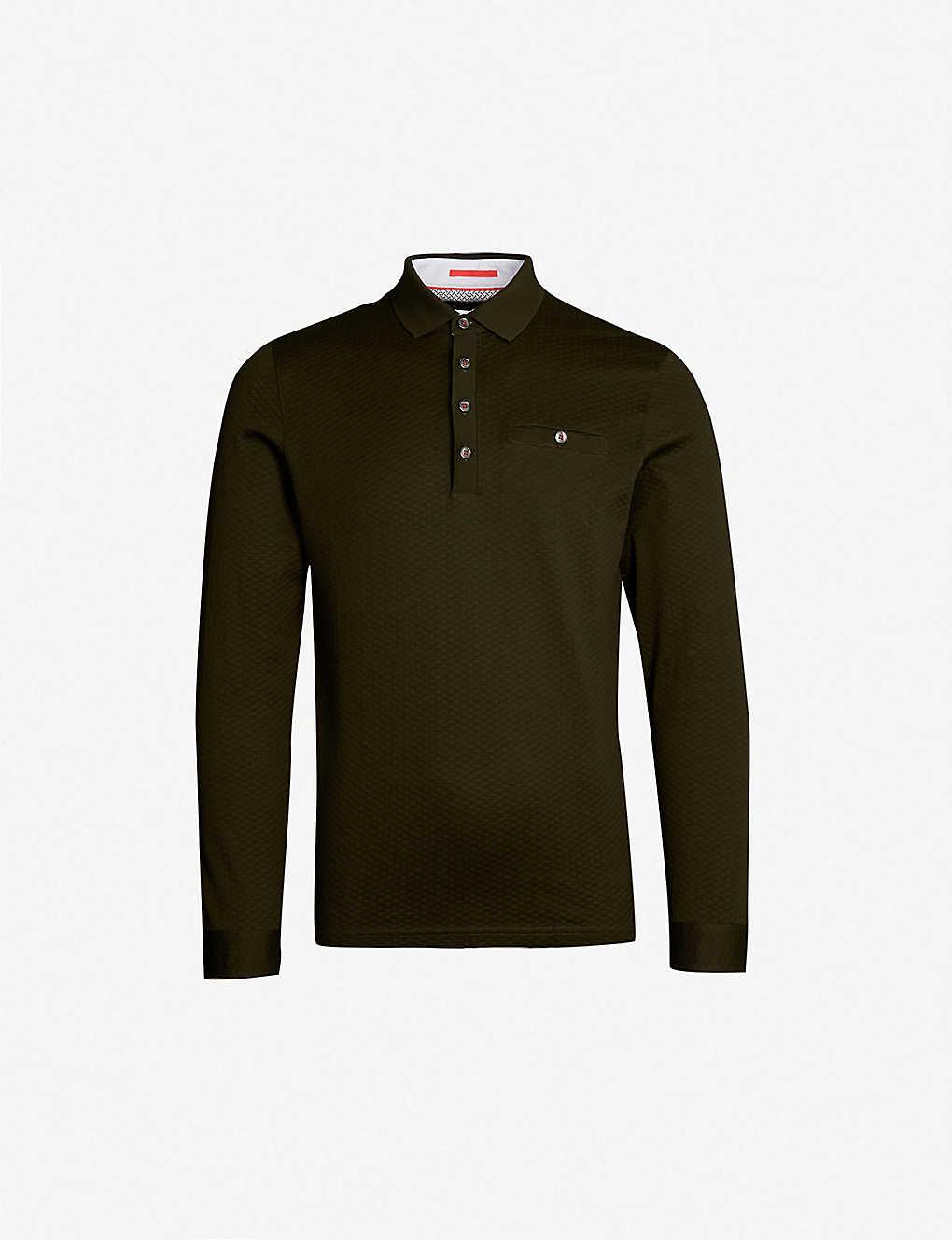 4282db6c5 TED BAKER - Fruitpa textured cotton-jersey polo shirt   Selfridges.com