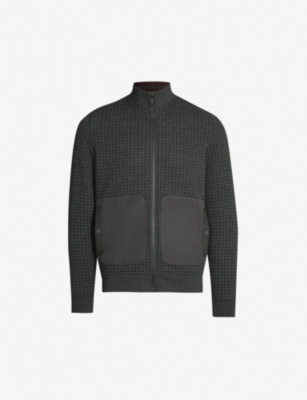 TED BAKER Narn quilted funnel-neck jersey jacket