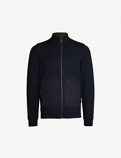 70f8a0d68 TED BAKER Narn quilted funnel-neck jersey jacket
