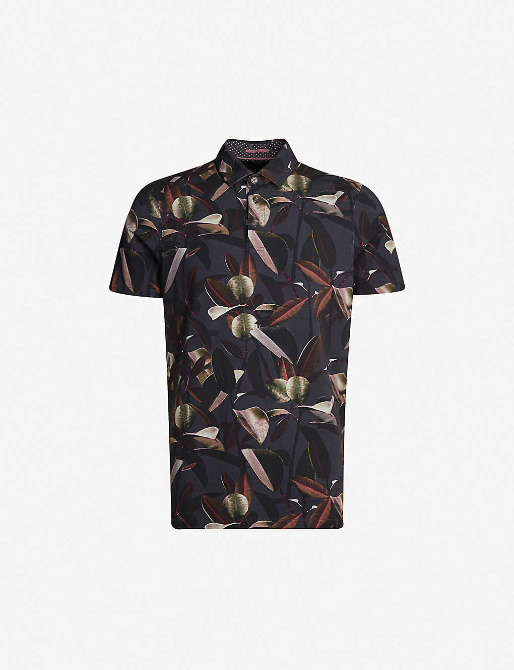 3bd3d74c88 TED BAKER - Floral-print stretch-cotton polo shirt | Selfridges.com