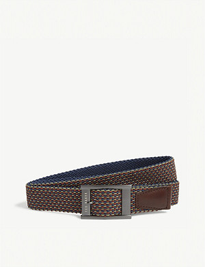 TED BAKER Columm woven and leather reversible belt