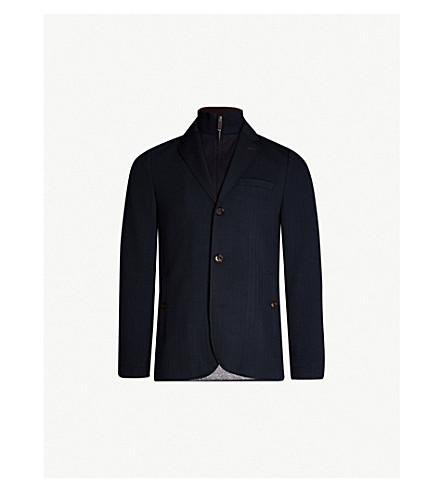 f6959d4574ec65 TED BAKER Toastie herringbone jersey jacket (Navy